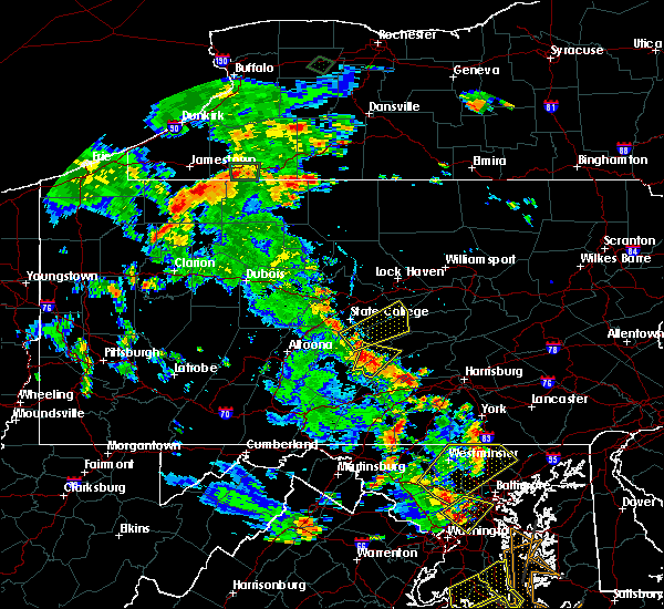 Radar Image for Severe Thunderstorms near Aaronsburg, PA at 6/22/2020 5:05 PM EDT