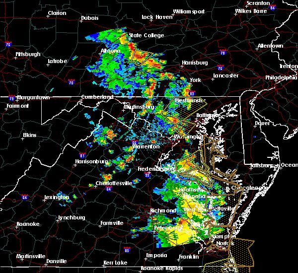 Radar Image for Severe Thunderstorms near Stephens City, VA at 6/22/2020 5:15 PM EDT