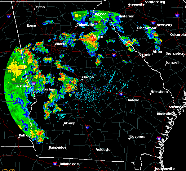 Radar Image for Severe Thunderstorms near Macon, GA at 6/22/2020 5:21 PM EDT