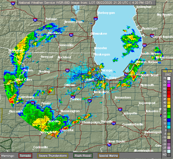 Radar Image for Severe Thunderstorms near Spring Valley, IL at 6/22/2020 4:26 PM CDT