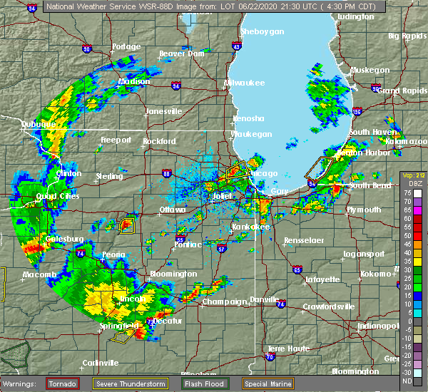 Radar Image for Severe Thunderstorms near Spring Valley, IL at 6/22/2020 4:33 PM CDT