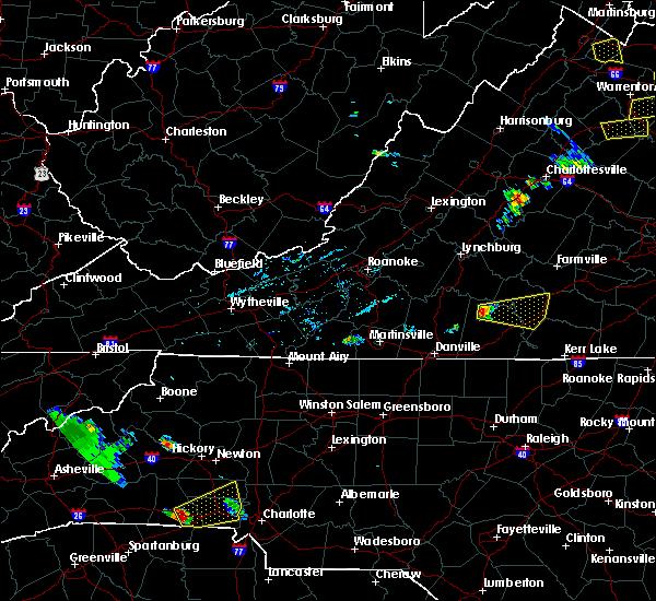 Radar Image for Severe Thunderstorms near Nathalie, VA at 6/22/2020 5:47 PM EDT