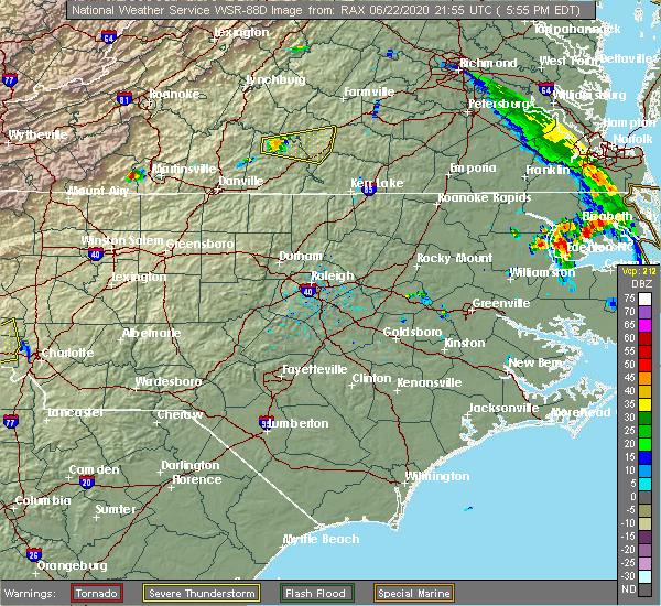 Radar Image for Severe Thunderstorms near Nathalie, VA at 6/22/2020 6:01 PM EDT