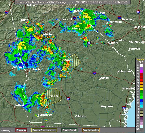 Radar Image for Severe Thunderstorms near Putney, GA at 6/22/2020 6:27 PM EDT