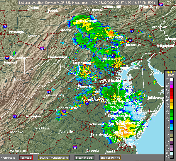Radar Image for Severe Thunderstorms near Jarrettsville, MD at 6/22/2020 6:41 PM EDT