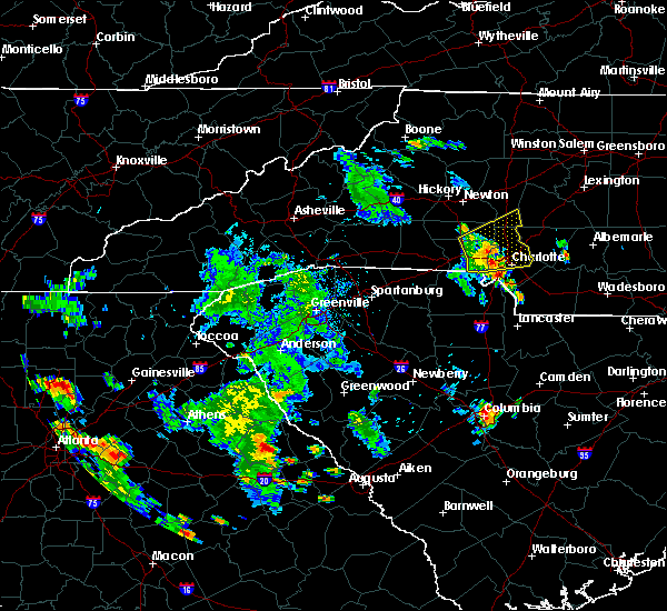 Radar Image for Severe Thunderstorms near Concord, NC at 6/22/2020 6:47 PM EDT