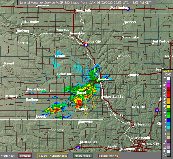 Radar Image for Severe Thunderstorms near Cook, NE at 6/22/2020 6:10 PM CDT
