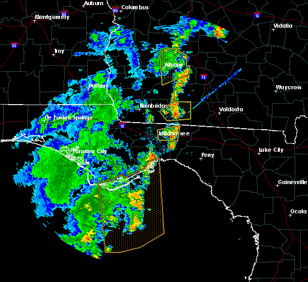 Radar Image for Severe Thunderstorms near Tallahassee, FL at 6/22/2020 7:25 PM EDT