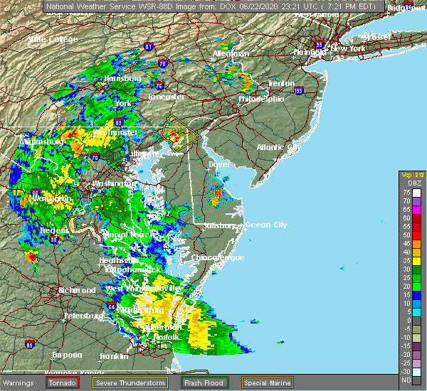 Radar Image for Severe Thunderstorms near Rising Sun, MD at 6/22/2020 7:28 PM EDT