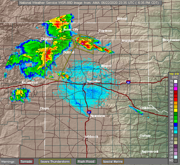 Radar Image for Severe Thunderstorms near Morse, TX at 6/22/2020 6:39 PM CDT