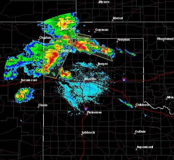 Radar Image for Severe Thunderstorms near Vega, TX at 6/22/2020 7:00 PM CDT