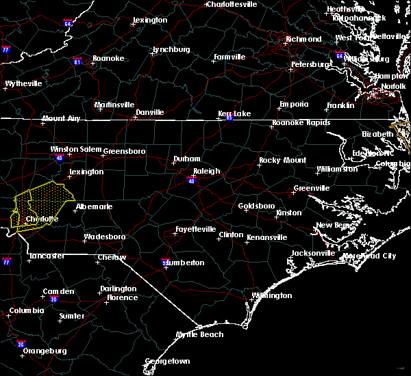 Radar Image for Severe Thunderstorms near Pinehurst, NC at 6/22/2020 8:05 PM EDT