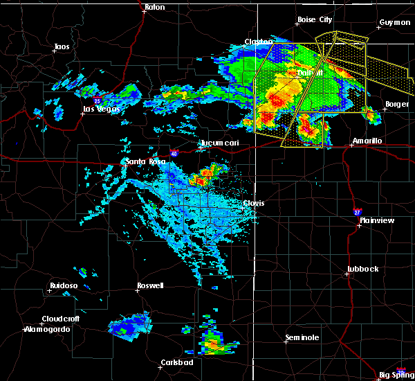 Radar Image for Severe Thunderstorms near House, NM at 6/22/2020 6:16 PM MDT