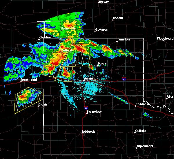 Radar Image for Severe Thunderstorms near Spearman, TX at 6/22/2020 7:20 PM CDT