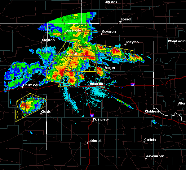 Radar Image for Severe Thunderstorms near Fritch, TX at 6/22/2020 7:31 PM CDT