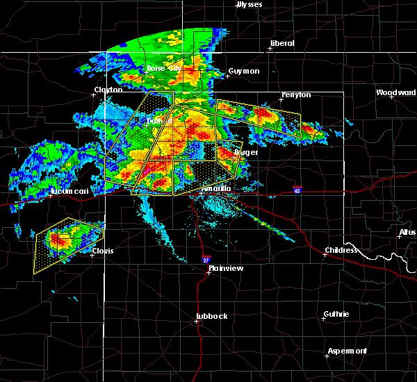 Radar Image for Severe Thunderstorms near Vega, TX at 6/22/2020 7:42 PM CDT