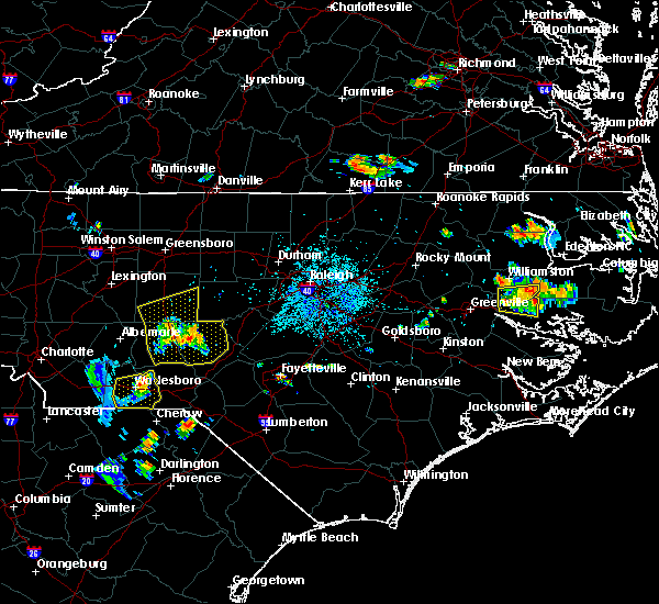 Radar Image for Severe Thunderstorms near Ellerbe, NC at 6/22/2020 8:54 PM EDT