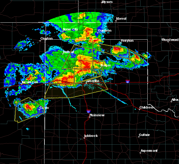 Radar Image for Severe Thunderstorms near Vega, TX at 6/22/2020 8:08 PM CDT