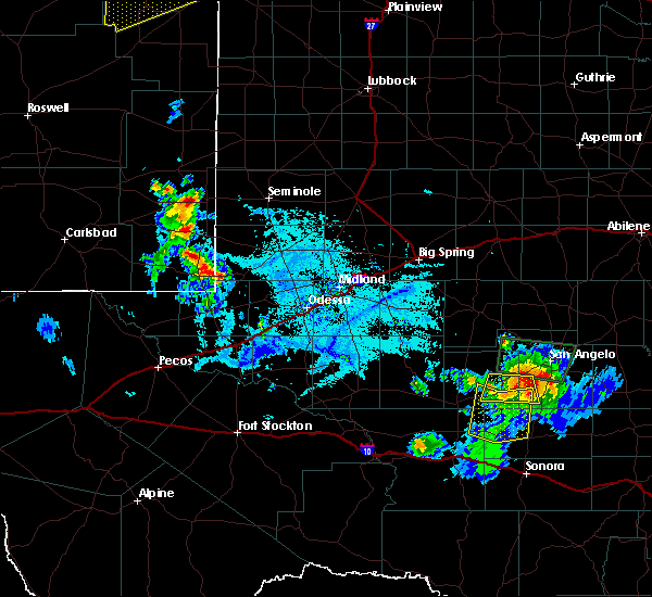 Radar Image for Severe Thunderstorms near Hobbs, NM at 6/22/2020 7:19 PM MDT