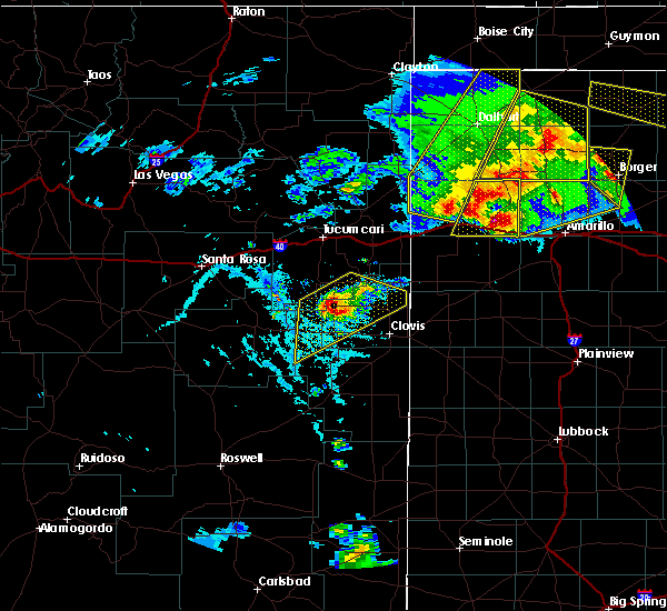 Radar Image for Severe Thunderstorms near Texico, NM at 6/22/2020 7:29 PM MDT