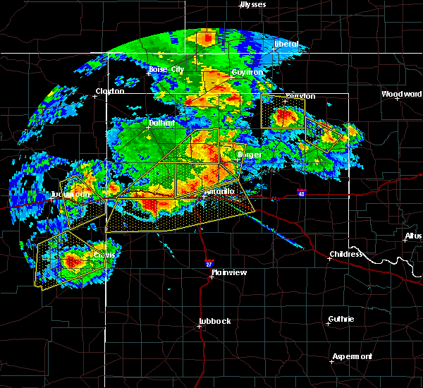 Radar Image for Severe Thunderstorms near Perryton, TX at 6/22/2020 8:30 PM CDT