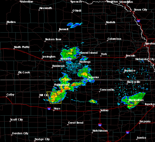 Radar Image for Severe Thunderstorms near Stockton, KS at 6/22/2020 8:34 PM CDT