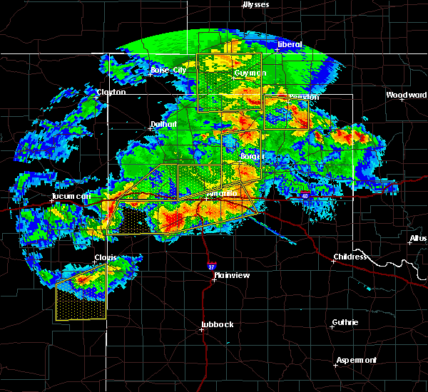 Radar Image for Severe Thunderstorms near Panhandle, TX at 6/22/2020 9:10 PM CDT