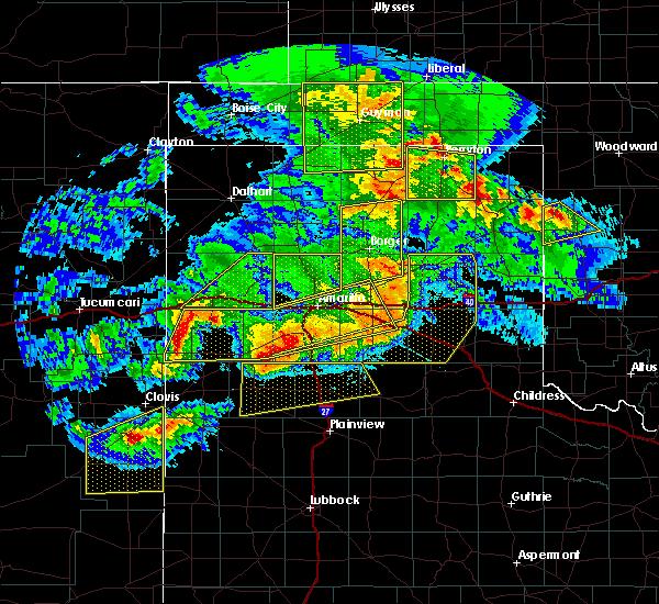 Radar Image for Severe Thunderstorms near Lefors, TX at 6/22/2020 9:21 PM CDT