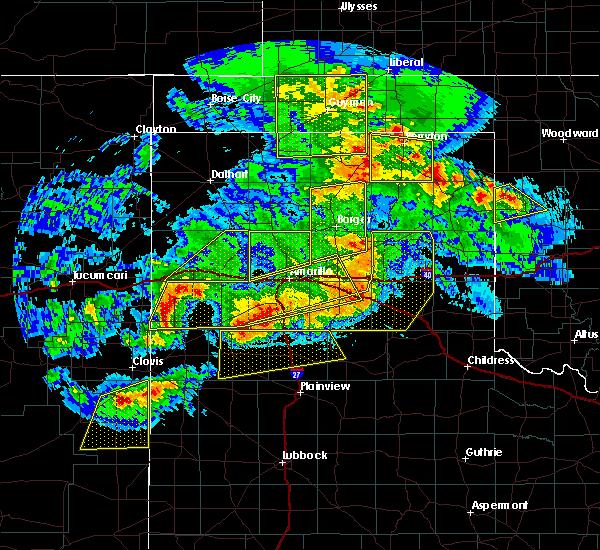 Radar Image for Severe Thunderstorms near Vega, TX at 6/22/2020 9:25 PM CDT