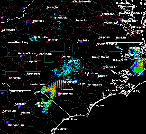 Radar Image for Severe Thunderstorms near Hope Mills, NC at 6/22/2020 10:33 PM EDT