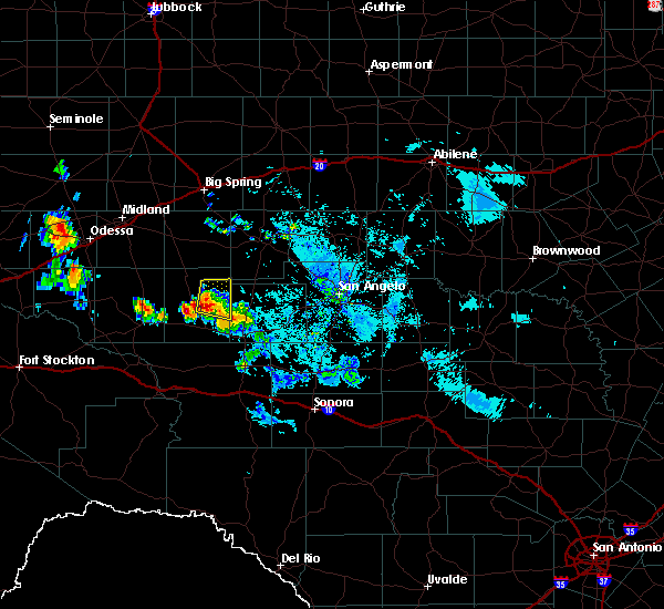 Radar Image for Severe Thunderstorms near Big Lake, TX at 6/22/2020 9:48 PM CDT