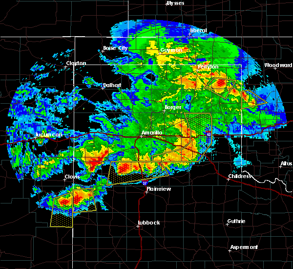 Radar Image for Severe Thunderstorms near Lefors, TX at 6/22/2020 9:52 PM CDT