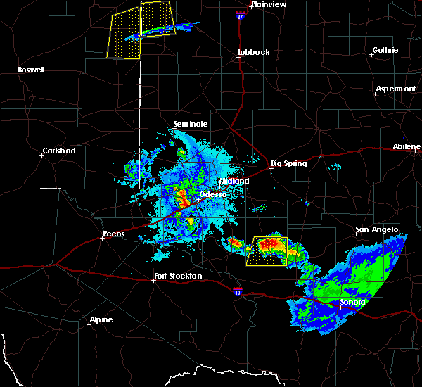 Radar Image for Severe Thunderstorms near Odessa, TX at 6/22/2020 9:57 PM CDT