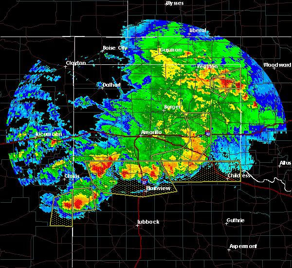 Radar Image for Severe Thunderstorms near Lefors, TX at 6/22/2020 10:09 PM CDT