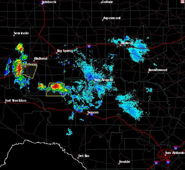 Radar Image for Severe Thunderstorms near Big Lake, TX at 6/22/2020 10:14 PM CDT