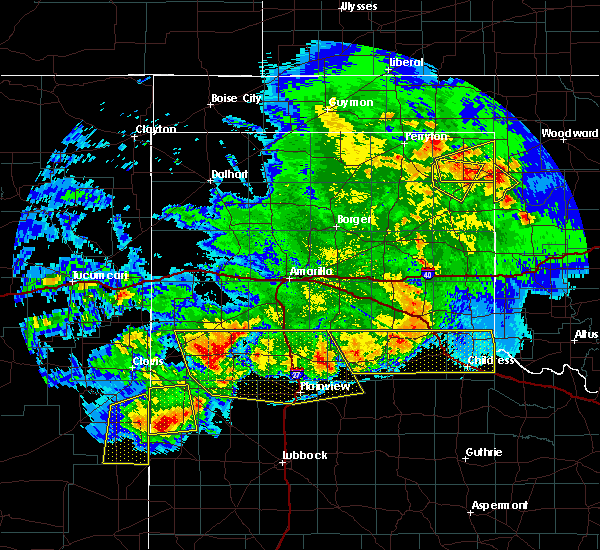 Radar Image for Severe Thunderstorms near Lipscomb, TX at 6/22/2020 10:20 PM CDT