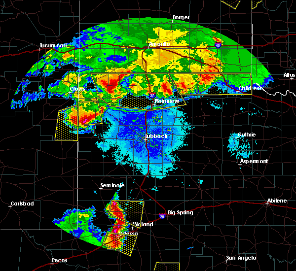 Radar Image for Severe Thunderstorms near Friona, TX at 6/22/2020 10:24 PM CDT