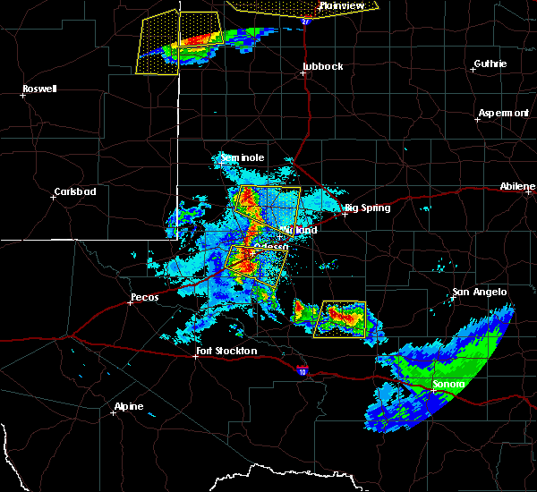 Radar Image for Severe Thunderstorms near Odessa, TX at 6/22/2020 10:24 PM CDT