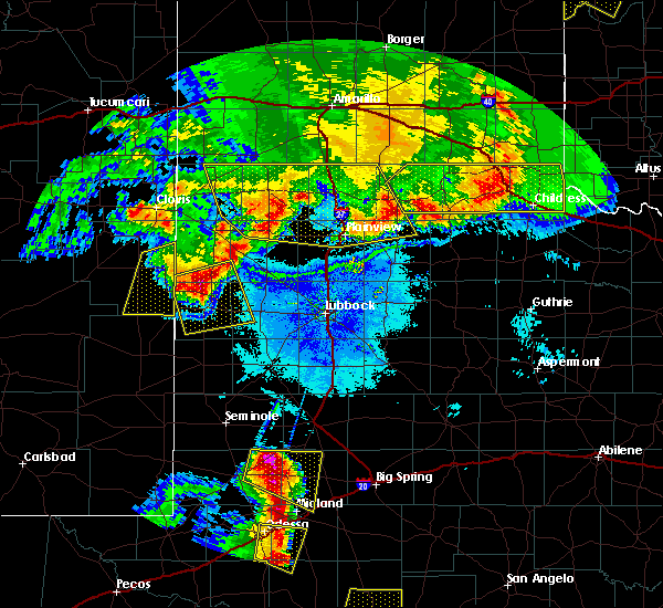Radar Image for Severe Thunderstorms near Friona, TX at 6/22/2020 10:41 PM CDT