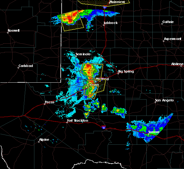 Radar Image for Severe Thunderstorms near Odessa, TX at 6/22/2020 10:47 PM CDT