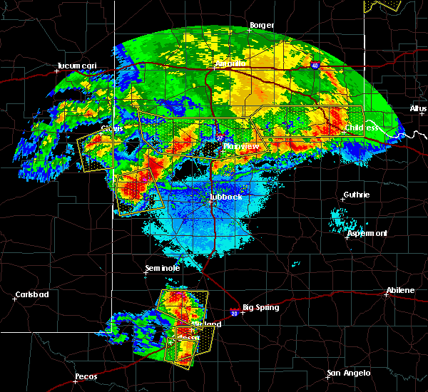 Radar Image for Severe Thunderstorms near Morton, TX at 6/22/2020 10:56 PM CDT
