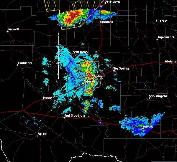 Radar Image for Severe Thunderstorms near Odessa, TX at 6/22/2020 11:04 PM CDT