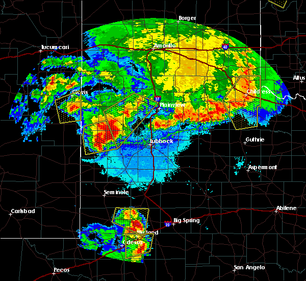 Radar Image for Severe Thunderstorms near Morton, TX at 6/22/2020 11:18 PM CDT