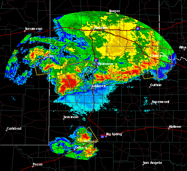 Radar Image for Severe Thunderstorms near New Deal, TX at 6/22/2020 11:30 PM CDT
