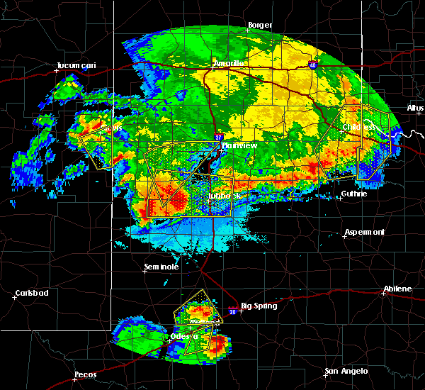 Radar Image for Severe Thunderstorms near New Deal, TX at 6/22/2020 11:44 PM CDT