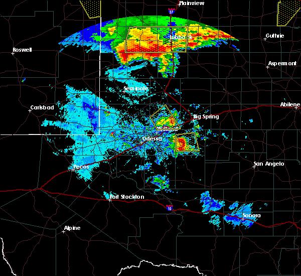 Radar Image for Severe Thunderstorms near Garden City, TX at 6/22/2020 11:53 PM CDT
