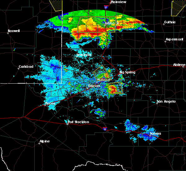 Radar Image for Severe Thunderstorms near Gail, TX at 6/23/2020 12:01 AM CDT