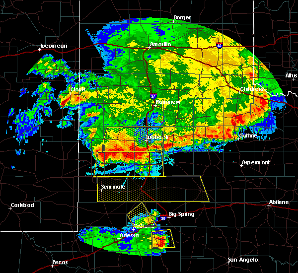Radar Image for Severe Thunderstorms near New Deal, TX at 6/23/2020 12:05 AM CDT