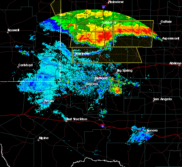 Radar Image for Severe Thunderstorms near Gail, TX at 6/23/2020 12:33 AM CDT