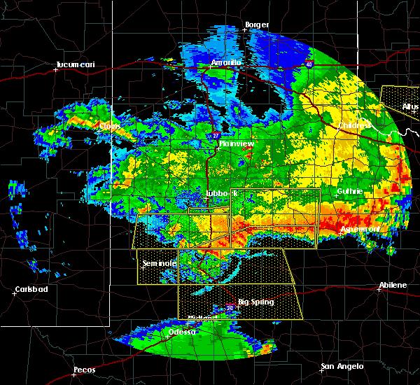 Radar Image for Severe Thunderstorms near Jayton, TX at 6/23/2020 1:01 AM CDT